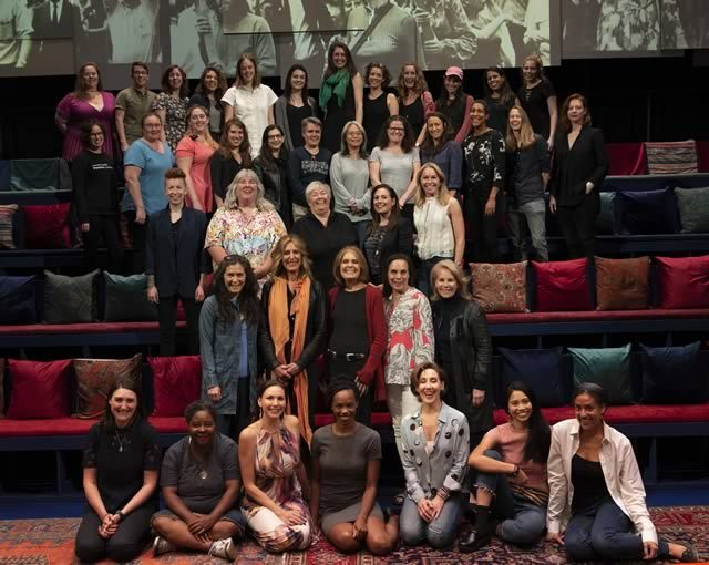 The all-female cast and crew of
