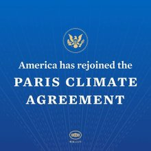 IG announcement of US rejoining Paris Agreement 79d5d