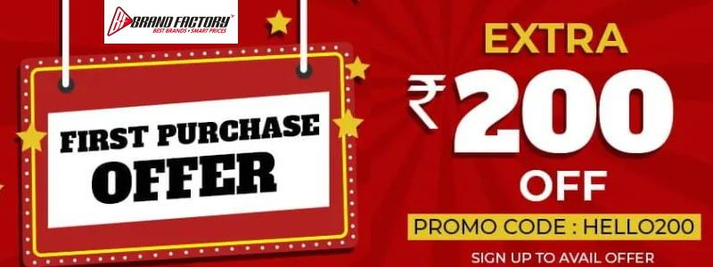 Extra Rs.200 OFF on First Purchase