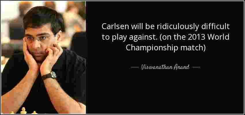 Viswanathan Anand is perhaps the most eminent sports personality of India. After reaching the pinnacle of Chess at a young age