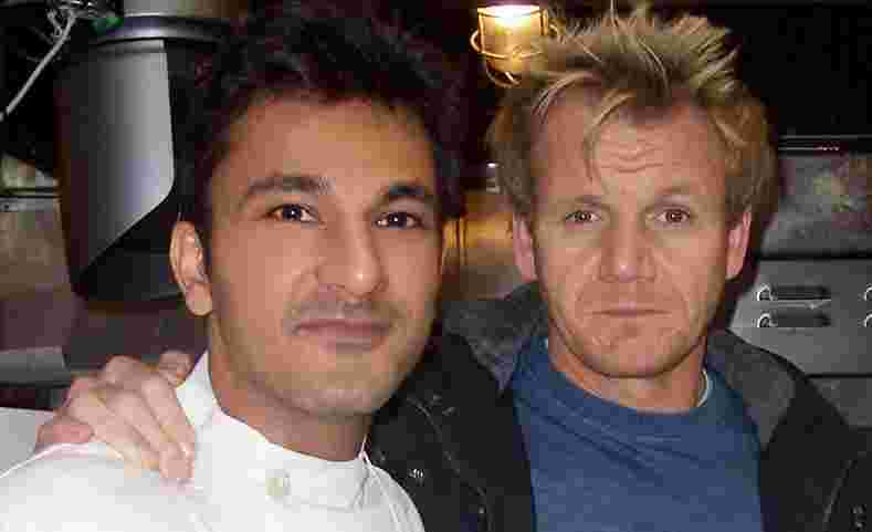 Vikas Khanna with Gordon Ramsay