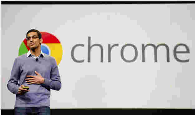 Pichai launching Google's web browser, Chrome. (2008)