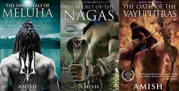 The books in the Shiva Trilogy series by Amish Tripathi (2010, 2011, 2013)