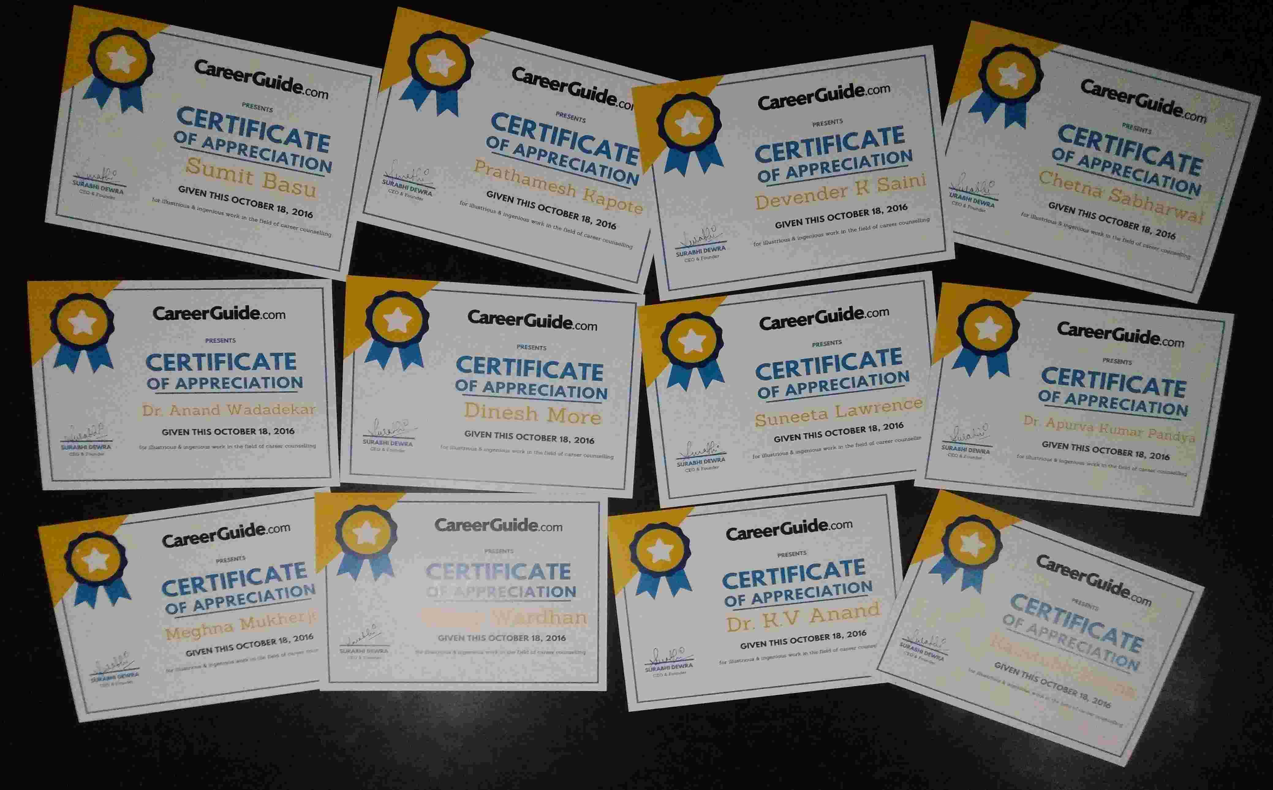 CareerGuide Certifies Career Counsellors