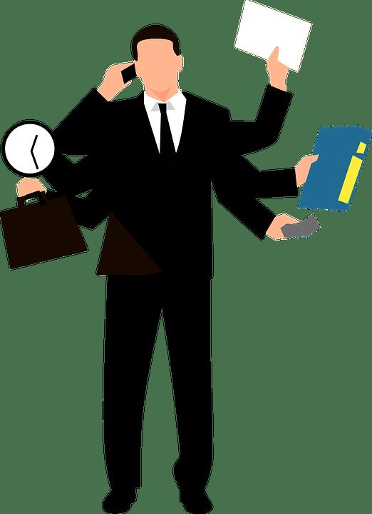 Multitasking Businessmen