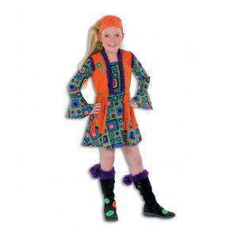 Hippie Meisje Oranje