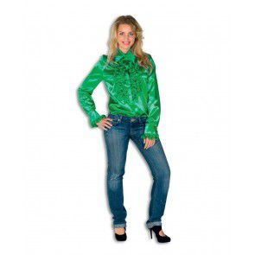 Dames Ruche Blouse Groen