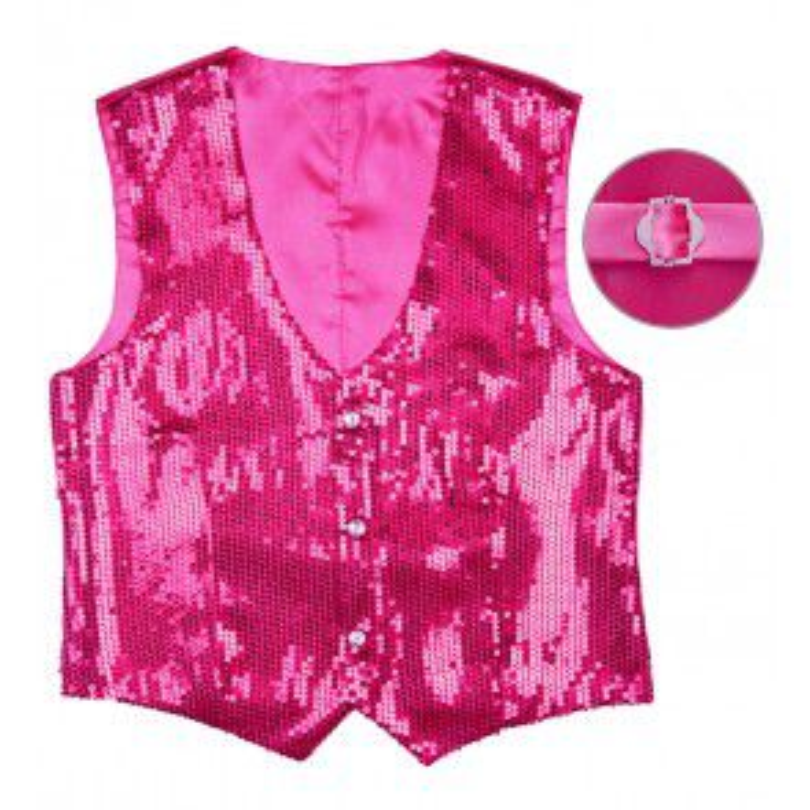 PAILLETTENVEST ROSE MAAT XL