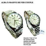 JAM TANGAN PASANGAN ALBA X MASIVE SILVER COUPLE FULL SET (10042859) di Kota Bekasi
