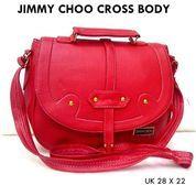 tas wanita selempang jimmy choo casual merah (10042913) di Kota Bekasi