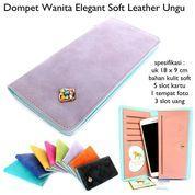 dompet wanita korean ellegant soft leather ungu (10042937) di Kota Bekasi