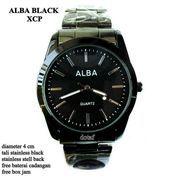 JAM TANGAN ALBA COUPLE XCP STAINLESS FULL SET BLACK 4 cm (10044857) di Kota Bekasi