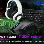 Paket Razer Rook Master (Mouse Imperator 4G+ Keyboard BW T2 Stealth+Mousepad Goliathus Med Speed+Headset Kraken Pro White)
