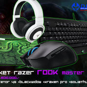 Paket Razer Rook Master (Mouse Imperator 4G+ Keyboard BW T2 +Mousepad Goliathus Med Control+Headset Kraken Pro Black)