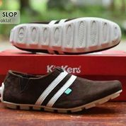 SALE SEPATU KICKERS SLOP SUEDE BAGUS MURAH SIMPLE BERKUALITAS (10051403) di Kota Bandung