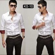 Kemeja Pria, Kemeja Korea, Kemeja Keren Warna Putih | SK-10 (10465611) di Kota Yogyakarta
