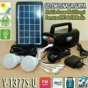 Solar panel tenaga surya Mobile Power Pemutar M3 & FM Radio VDR1377 UU