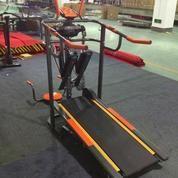 Alat fitness treadmill manual 6 fungsi orange