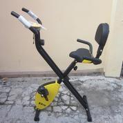 Alat fitness sepeda statis magnetik x bike dengan sandaran