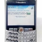 Blackberry 8320 Silver Putih