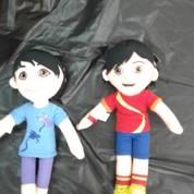 Boneka Tokoh Film Kartun Shiva & Reva And Friends Ukuran M 34 Cm