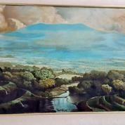 Lukisan Gunung Tangkuban Prau