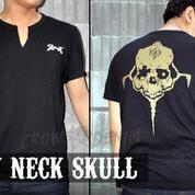 Kaos T-Shirt Crowszero V Neck Genji Rope (11899213) di Kab. Bantul