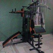 Alat Olahraga Fitness Home Gym 3 Sisi Multifungsi