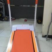 Alat Fitness Treadmill Elektrik Walking Machine Orange