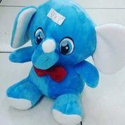 Boneka Mainan Anak Gajah Yelpo / Yelpo Elepant With Red Tie Cute SNI Ukuran M Kurleb 30cm Harga 65rb Per Buah