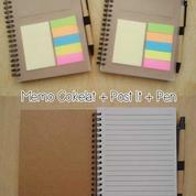 Souvenir Memo Recycle + Pen + Post It