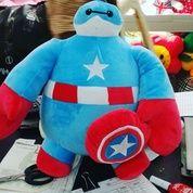 Boneka Tokoh Film Baymax Big Hero Kostum Captain America / Kapten Amerika SNI Ukuran M Kurleb 35cm Harga 80rb Per Pcs Berat Kurleb 500 Gram (12156317) di Kota Jakarta Selatan
