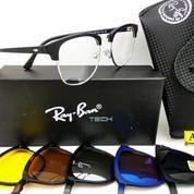Frame Kacamata Minus RB Clubmaster Clip-On 5 Lensa Trendy & Terbaru, Frame Kacamata Plus, Kacamata Anti Radiasi (12307193) di Kota Bogor