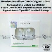 Headset Oppo Original 100% For Oppo F3 Plus / F3 / F1 Plus / F1S /A57 /A39 / A37 / Neo 7 / Oppo Joy Dll