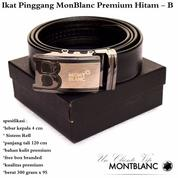 Grosir Ikat Pinggang Murah Monblanc Premium Hitam - B (12396103) di Kota Jakarta Timur