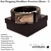 Grosir Ikat Pinggang Murah Monblanc Premium Hitam - C (12396133) di Kota Jakarta Timur
