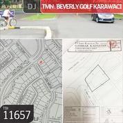 Kavling Taman Beverly Golf Karawaci, Tangerang, 576 M, PPJB (12719947) di Kota Tangerang