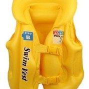 Rompi Renang Anak Pelampung Tiup Swim Vest Pool Jaket Berenang Pengaman Dilengkapi Strap Tali Aman