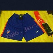 Celana Bola + Kaos Kaki Bola Atletico Madrid Home 2017 / 2018 OFFICIAL