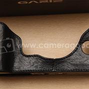 Gariz Leather Half Case For Fujifilm XT1 - Black