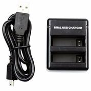 USB Dual Battery Travel Charger GoPro Hero 4