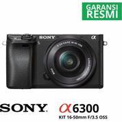 Mirrorless Digital Camera SONY Alpha A6300 KIT Lens 16-50MM + Memory 64GB [Garansi Resmi]