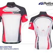 JERSEY SEPEDA POL SPEED CENTRO BLACK RED SHORT SLEEVES