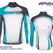JERSEY SEPEDA POL SPEED CENTRO BLACK TORQUISE LONG SLEEVES