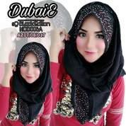 Jilbab Segiempat Dubaie Black Edition