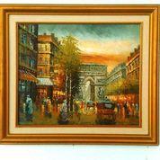 """Lukisan Kuno """"Kota Paris Tempo Doeloe"""