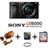 Mirrorless Digital Camera SONY Alpha A6000 KIT Lens 16-50mm [Paket] (13494075) di Kota Surabaya