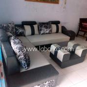 Sofa Sudut Minimalis Warna Abu-Abu Di Semarang