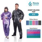 Jas Hujan Jaket Celana POP Motif Polkadot Merk Plevia (810)