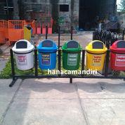 tong sampah fiberglass 5 pilah (1357798) di Cikarang